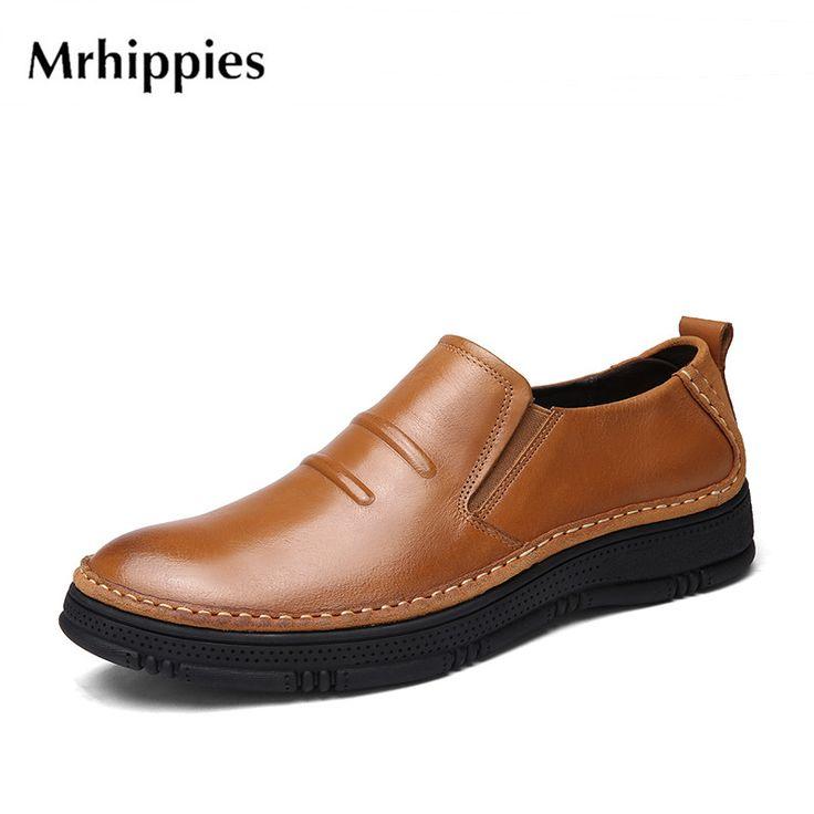Zapatos de hombres Cuero genuinoTrabajo Casual Derby Barco de negocios cordones entrenadores Tamaño 39 a 44 , Brown , EU39