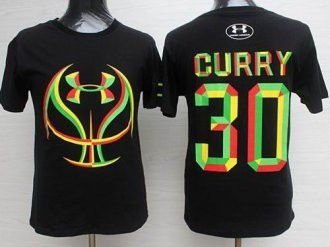 Golden State Warrlors #30 Stephen Curry Black Candy Under Armour Stitched NBA Jersey