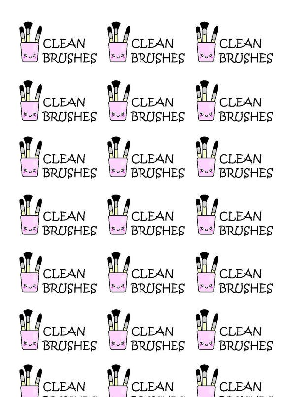 21 Clean brushes beauty daily life planner by StickerCrush on Etsy