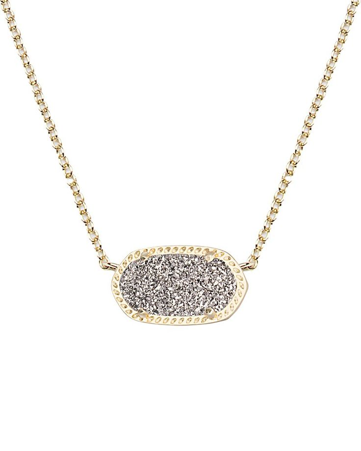 Elisa Pendant Necklace in Platinum Drusy - Kendra Scott Jewelry. Coming July 16!