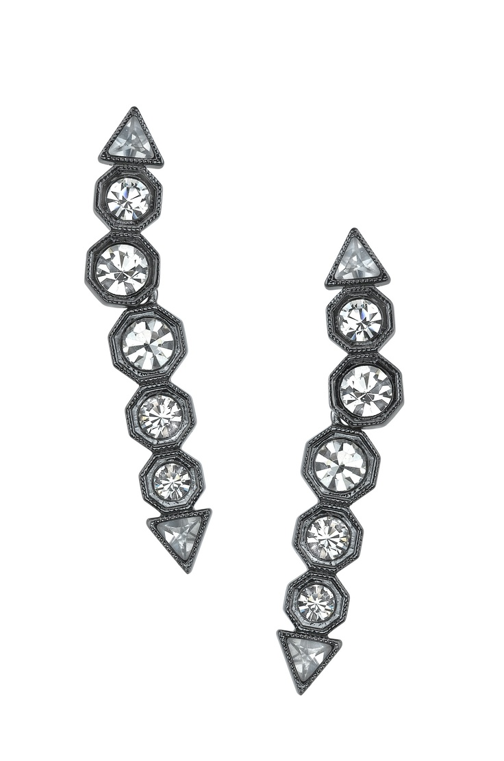 House of Harlow 1960, oval drop earrings. I want!