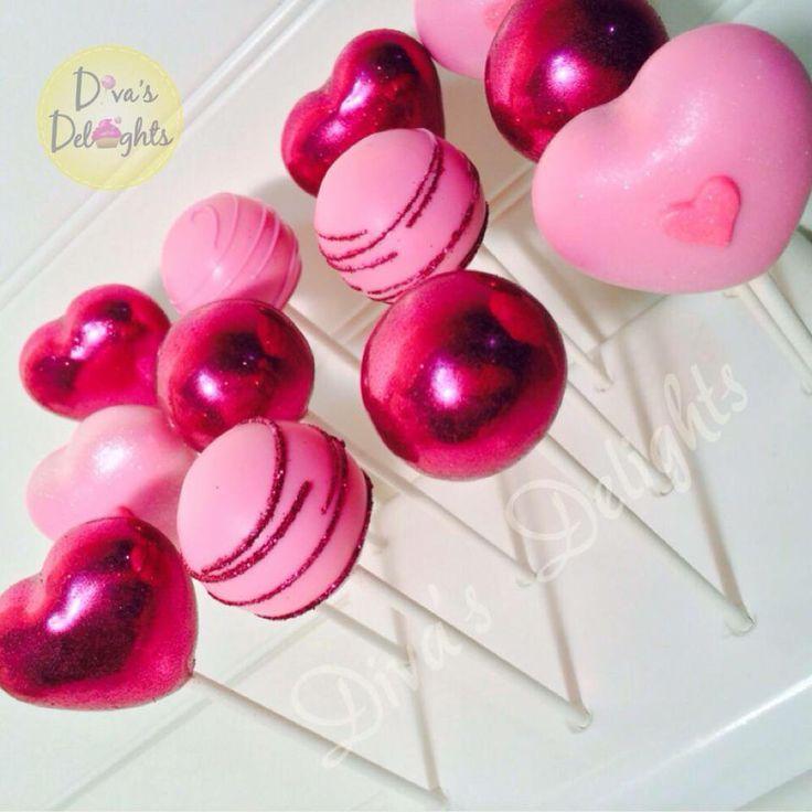 Valentines Day Cake Pops #cakepops