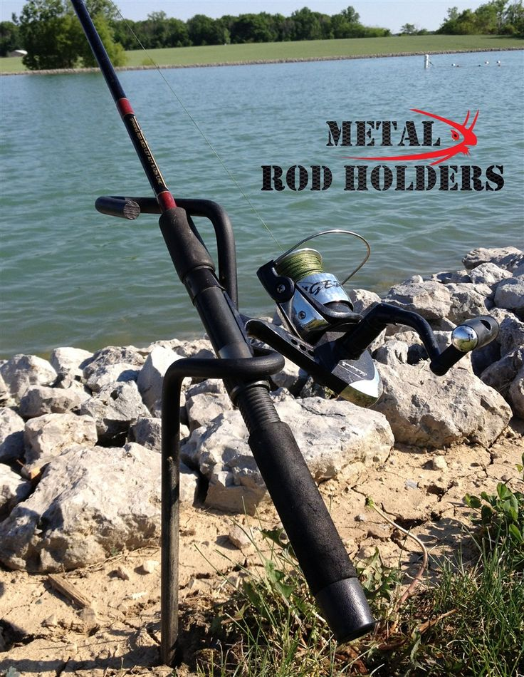Metal Rod Holders provide quality fishing rod holders for crappie, pan fish, catfish, and other freshwater fishing needs including bank fishing.
