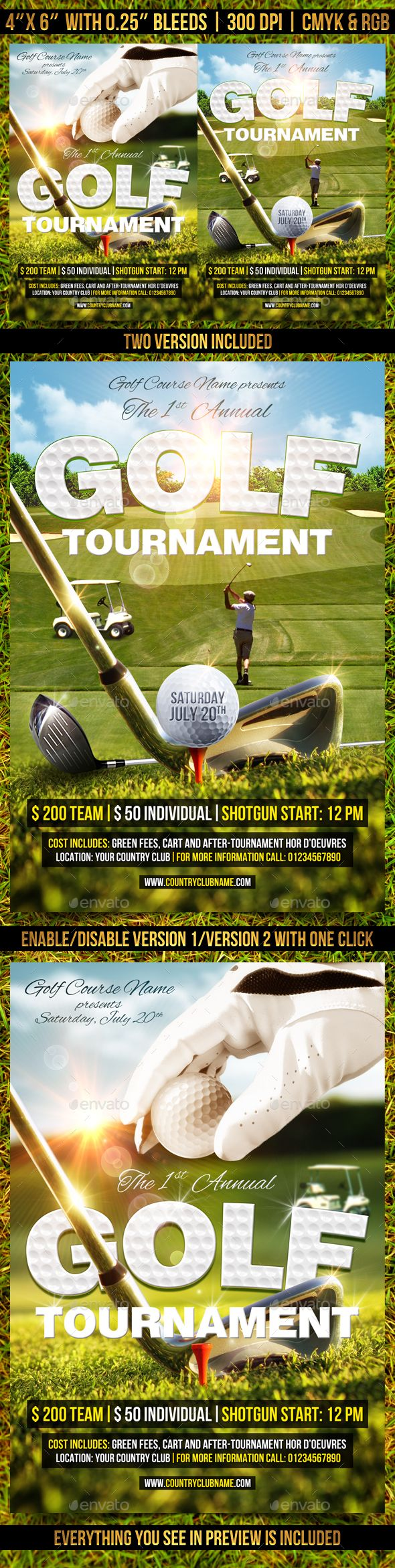 Best Cisd Golf Tournament Images On   Event Flyers