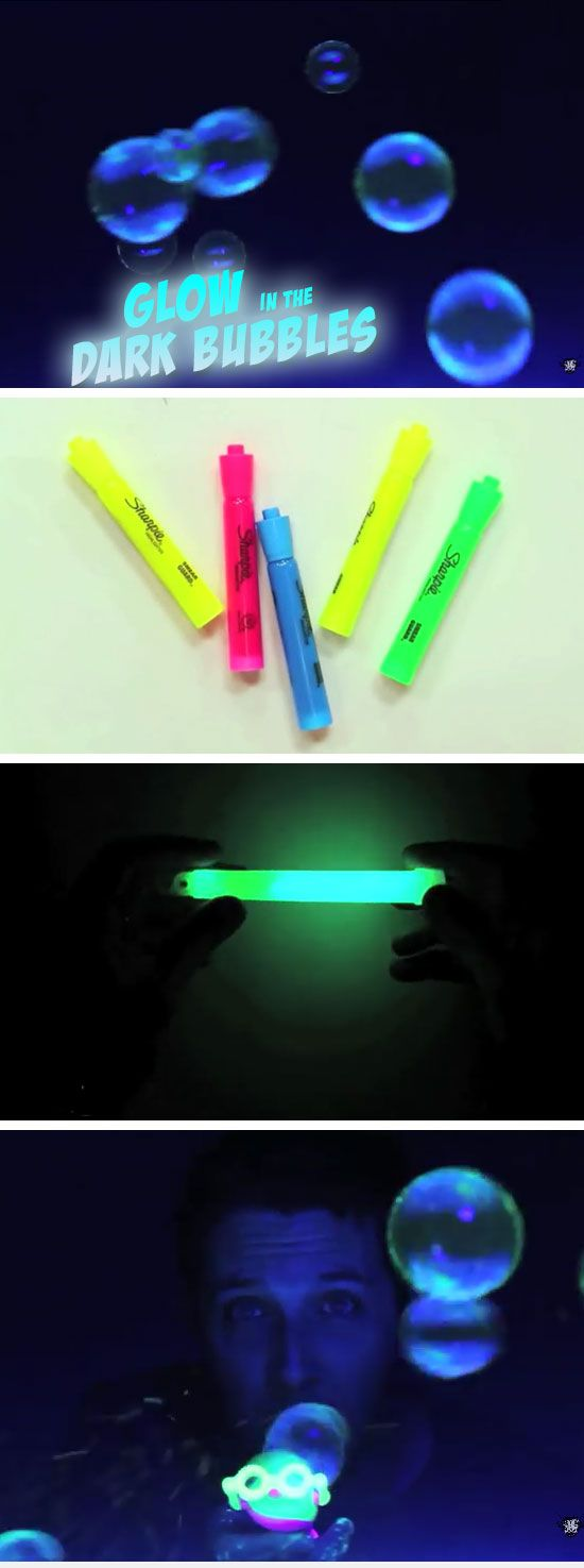 How-To Make Glow in the Dark Bubbles | 16 DIY Summer Activities for Kids Outside | Fun Summer Ideas for Kids Outside Games