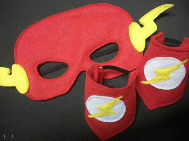 Felt Super Hero Mask The Flash. $8.00, via Etsy.