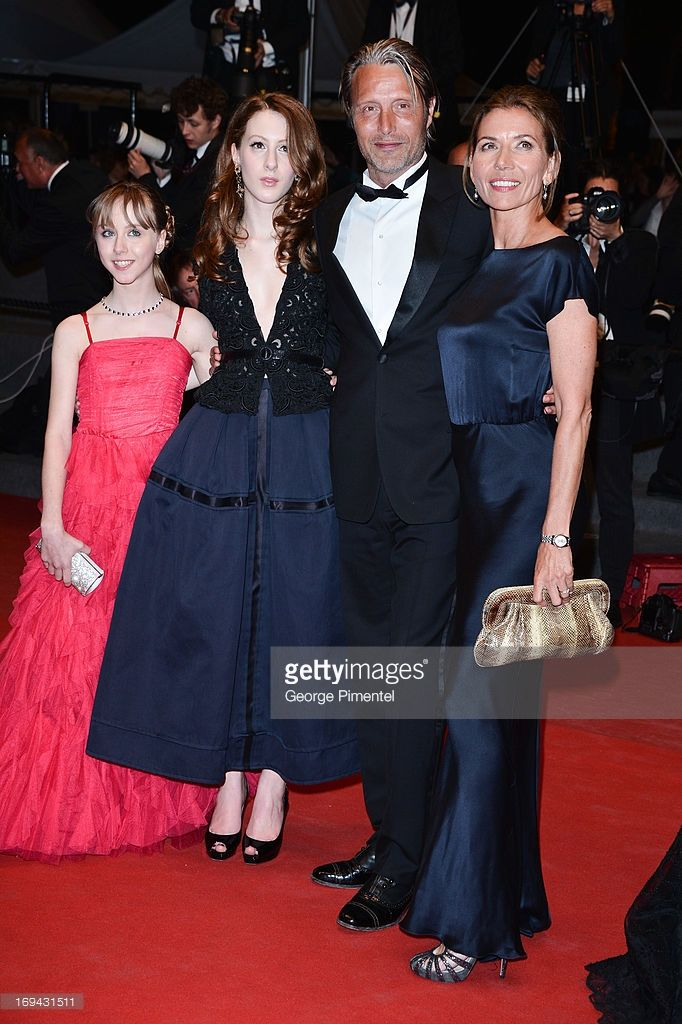 Actresses Melusine Mayance, Roxane Duran and actor Mads Mikkelsen with wife Hanne Jacobsen attend the Premiere of 'Michael Kohlhaas' at The 66th Annual Cannes Film Festival at Palais des Festivals on May 24, 2013 in Cannes, France.