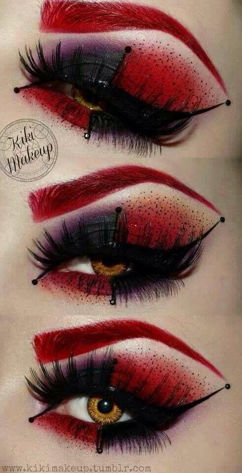 Harley Quinn inspired eye