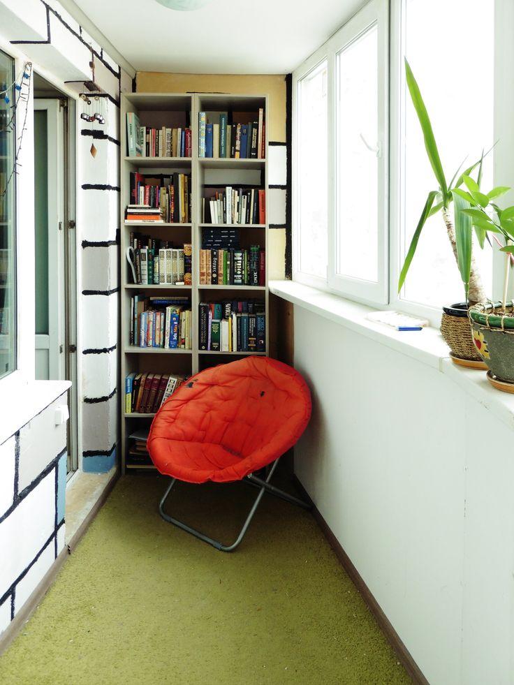 balcony bookcase, DIY