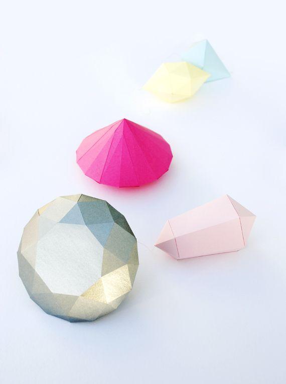 Paper diamond by Jean Carvalho ~ via minieco.co.uk