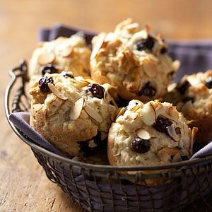 blueberry almond muffins breads muffins rolls sweet food muffins sweet ...