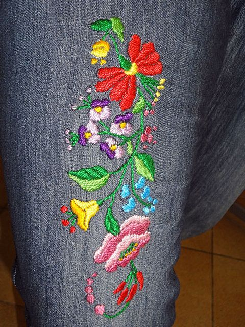 Hungarian embroidery handmade Kalocsai