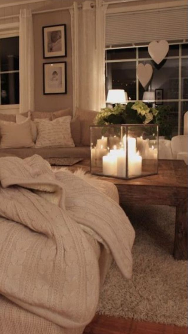Shabby chic cosy living room interiores pinterest for Living room 640x1136