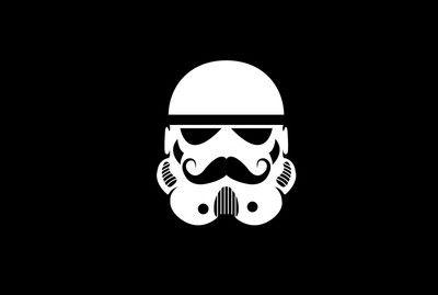 Stormtrooper With Mustache WallpaperFunny WallpapersMinimalist Desktop