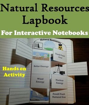 This lapbook on natural resources is a fun hands on activity for students to use in their interactive notebooks. Students may research different facts about each type of natural resource and write what they find on the provided blank lines.