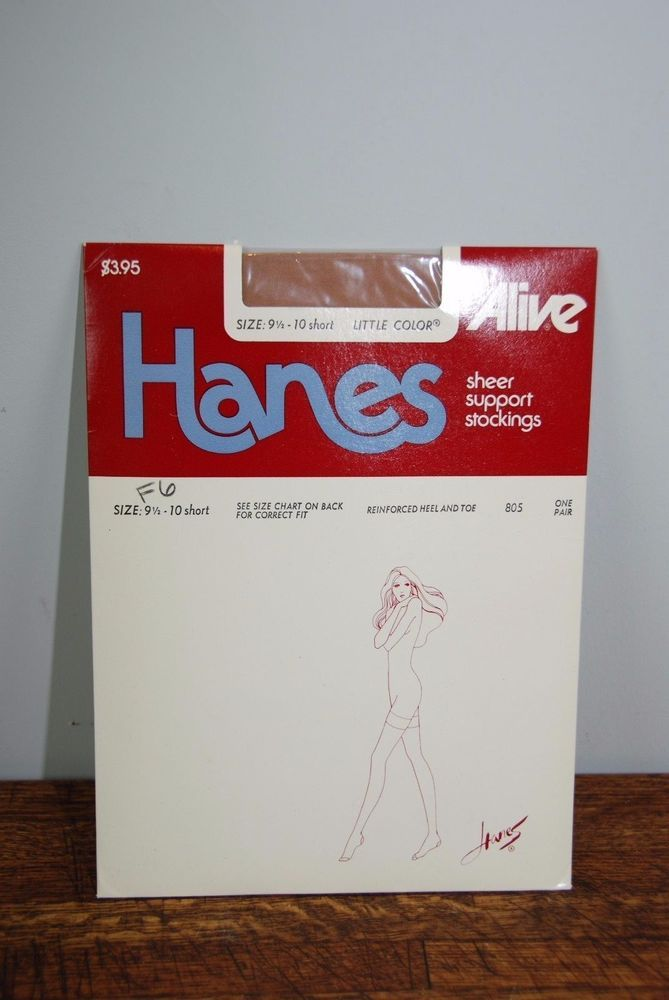 2x Hanes Alive Sheer Support Stockings Size 9 1/2-10 Short Little Color #Hanes #Stockings