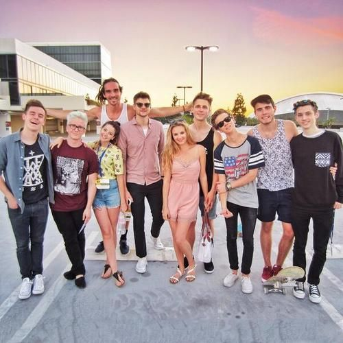YOUTUBERS AT VIDCON Connor Franta, Tyler Oakley, Zoe Sugg, Louis Cole, Jim Chapman, Niomi Smart, Marcus Butler, Joe Sugg, Alfie Deyes and Troye Sivan
