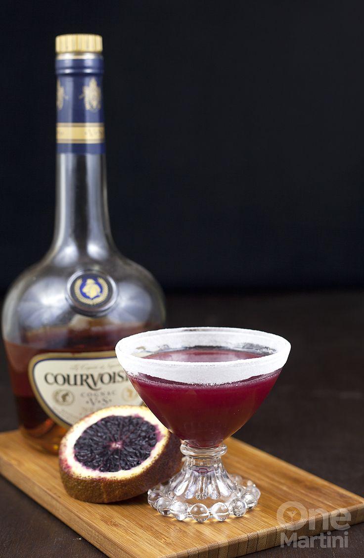 Marianne : a blood orange cognac cocktail : onemartini.com