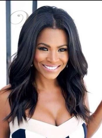 Nia Long Loose Wave Middle Parting Hairline Synthetic Lace Front Wigs 18 Inches