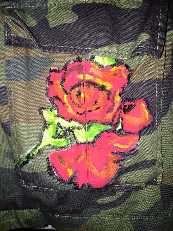 I'm not a big fan of roses but I love Stephen Sprouse so naturally his Rose had to go on my jacket