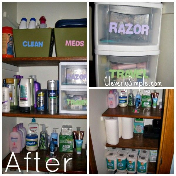Organizing With Dollar Store Items: Linen Closet Images On Pinterest