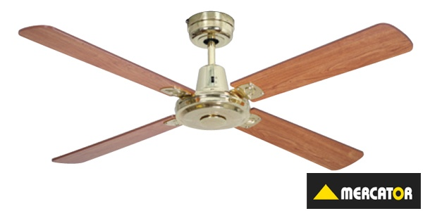 Mercator Swift Timber Brushed Chrome Ceiling Fan 52 1300mm FC010138BC