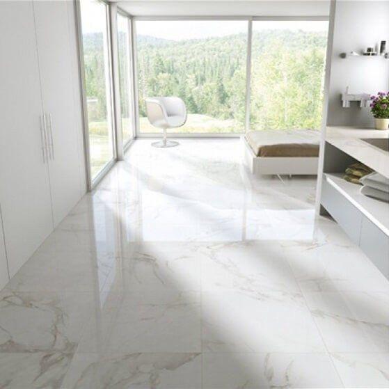 Estatuario Floor Tiles in Bedroom