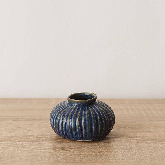 Bud Vase, Geometric Planter, Rustic Bud Vase, Minimalist Bud Vase, Unique Bud Vase, Ceramic Indoor Planter, Carved Bud Vase, Sculpted Vase