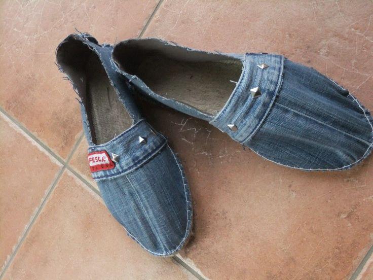 Espadrilles aus alter Jeans
