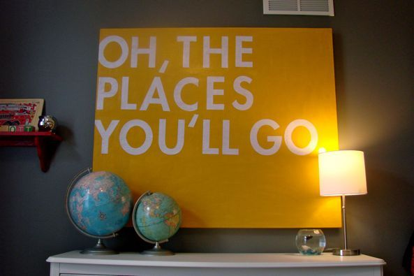 PlayroomIdeas, Nurseries, Quote, Kids Room, Kid Rooms, Canvas, Baby Room, Dr. Seuss, Boys Room