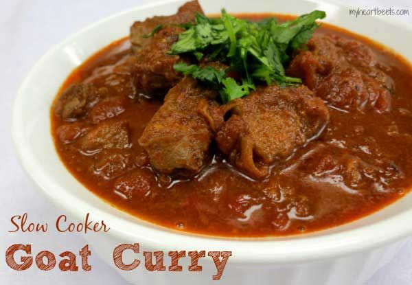 Slow Cooker Goat Curry by myheartbeets.com!