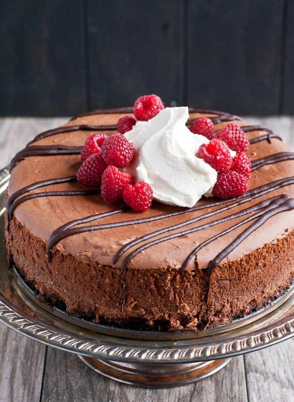 Easy Chocolate Cheesecake Recipe | Neighborfodblog.com