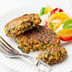 Burgery mięsne z ryżem i szpinakiem | Kwestia Smaku
