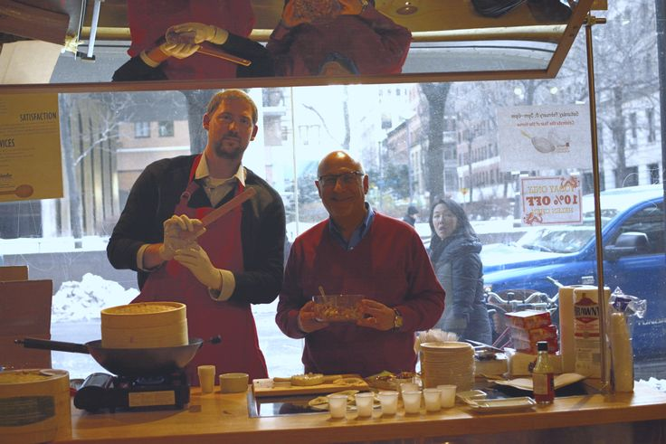 HIC team member Dan doing a steamed dumpling demo with HIC rep, Jeff Loeser, at the Broadway Panhandler shop in Manhattan. They made steamed dumplings using Helen's Asian Kitchen products, made by Harold Import Co. Learn more: http://www.hickitchen.com/helen-chens-asian-kitchen.aspx