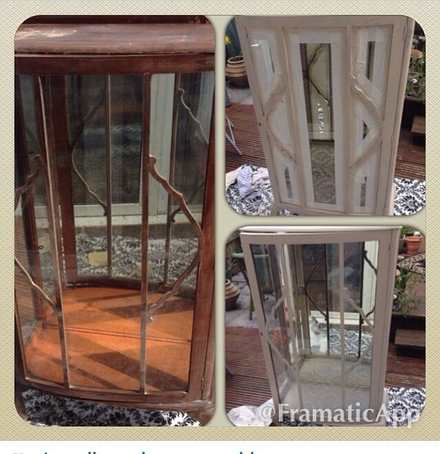 Antique cupboard upcycled using farrow and ball paint in Oxford stone