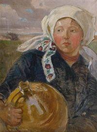 Kobieta z dzbanem by Stanislawa Fijalkowska-Kedzierska