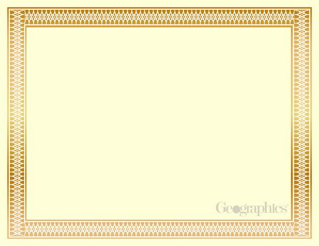 Buy Traditional Gold Foil Printable Certificates 100 Pk And Save. Print  Geographics Awards Certificates And Diplomas With Free Templates!  Printable Certificates Of Achievement