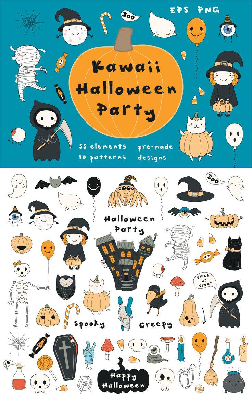 Kawaii Halloween Clipart