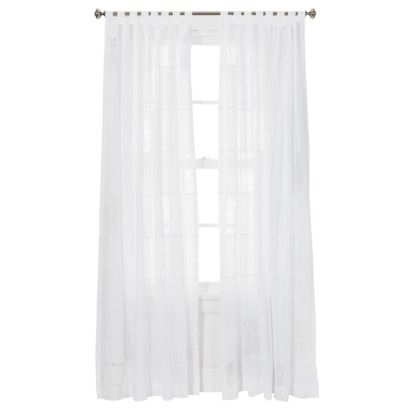 Patchwork White Window Panel Curtain With Lace Accents By Simply Shabby Chic From Rachel