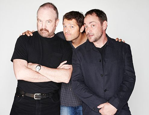 Jim Beaver, Misha Collins, Mark Sheppard, love their acting! Heaven, Hell and cranky never looked so appealig