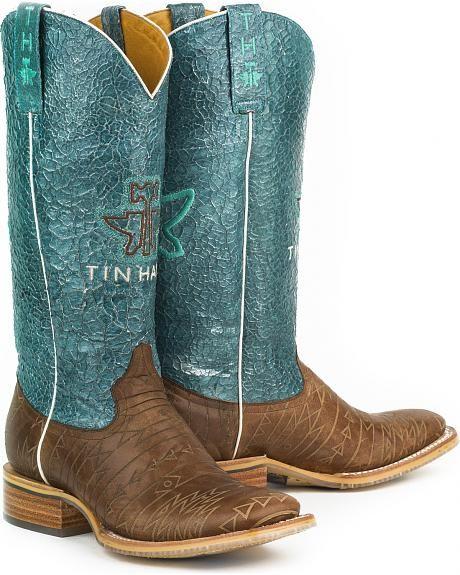 Tin Haul Women's Aztec Print Native Cowgirl Boots - Square Toe