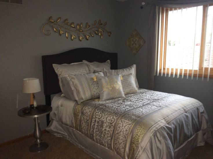 43 Best Images About Silver And Gold Bedroom On Pinterest Guest Rooms Grey And Silver Bedroom