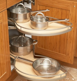 Kitchen Cabinet Blind Corner Pull Out. Never Search For Tupperware In The  Back Of The Cabinet Ever Again!