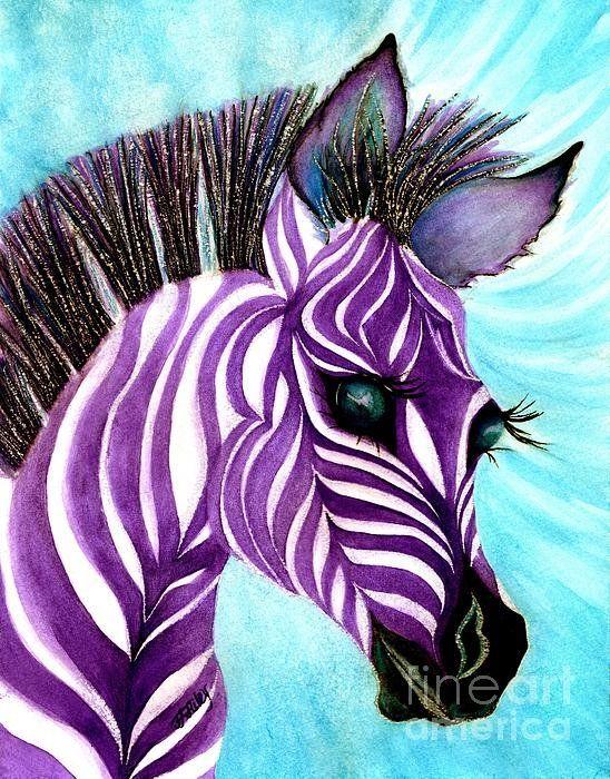 Purple Baby Zebra Print By Janine Riley