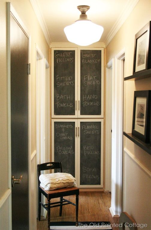 Chalkboard Paint On Linen Medicine Cabinet Door For Pippa