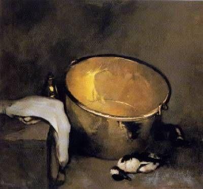Emil Carlsen-Still Life with Brass Pot
