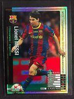 2010-11 Panini WCCF # WBE09 Lionel Messi rare refractor card Barcelona