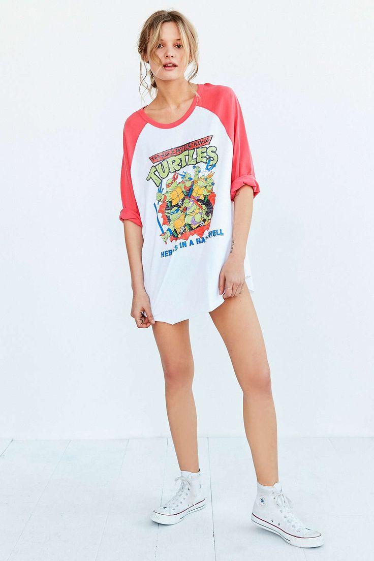 T-shirt de baseball Ninja Turtles Junk Food