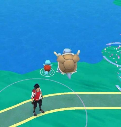 Blastoise: Look, son. Everything the light touches is our kingdom