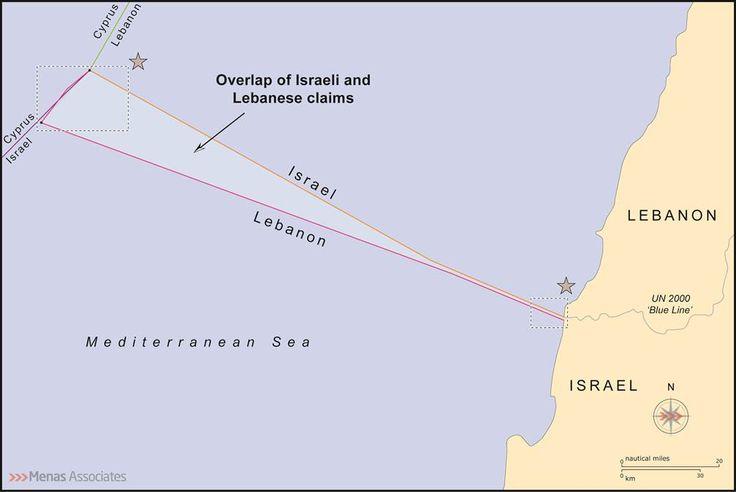 menas borders: US proposal for Lebanon Israel maritime boundary